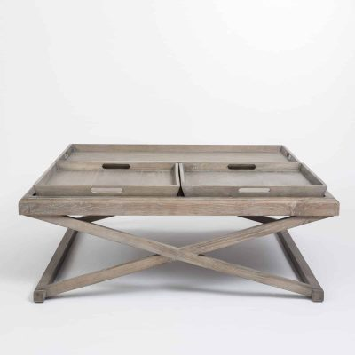 Coffee table in grey aged oak