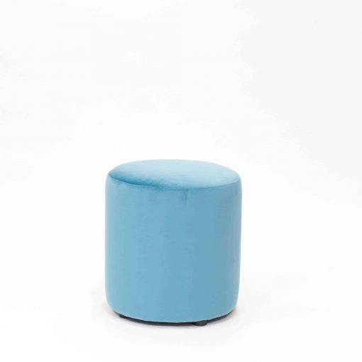 Aqua velvet style viscose stool