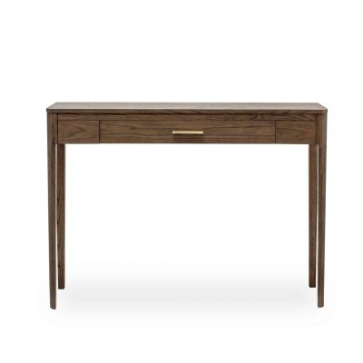 Abberley console table in oak veneer with 1 drawer