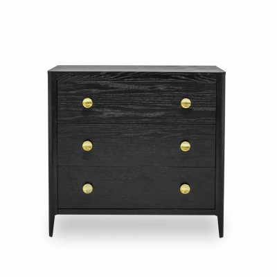 Abberley chest of drawers in dark stained solid oak and oak veneer