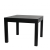 Solid oak and oak veneer square dining table in black
