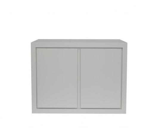 Grey sideboard in grey stain oak and oak veneer, 2 doors