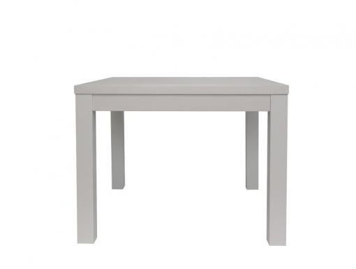 Solid oak and oak veneer square dining table in white