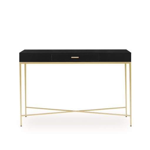 One drawer black console table